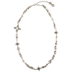 Chanel Paris-Bombay Beaded Necklace in Matte Gilt Metal
