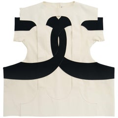 Iconic Come des Garçons Black and White symbol Dress