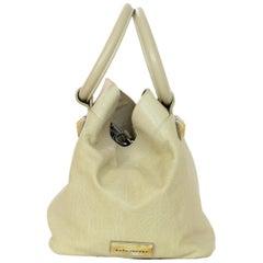 Marc Jacobs Beige Leather Top Handle Bag W/ Stones