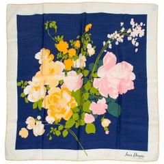 Jean Dessès Paris Silk Floral Foulard Scarf, 1950s
