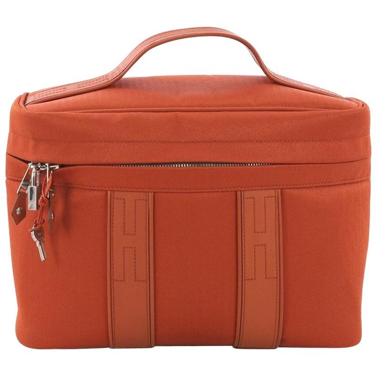 8e22e3d38203 Hermes Acapulco Vantiy Bag Toile with Leather at 1stdibs