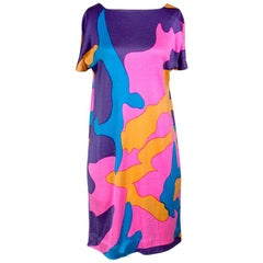 Stephen Sprouse Andy Warhol Camouflage Shift Dress, 1980s