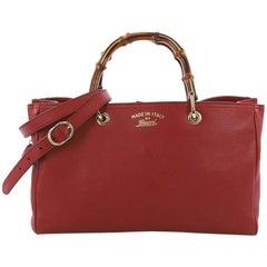 Gucci Bamboo Shopper Boston Bag Leather Medium