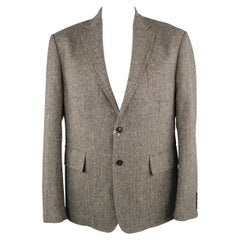 BILLY REID 44 Gray Herringbone Wool Sport Coat