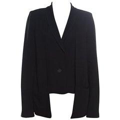 10 Crosby Derek Lam Black Crepe Faux Vest Detail Layered Blazer S