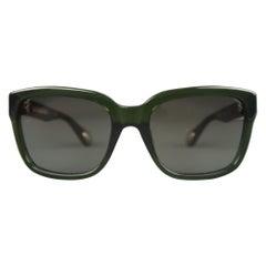 ANN DEMEULEMEESTER Clear Green D Frame Sunglasses