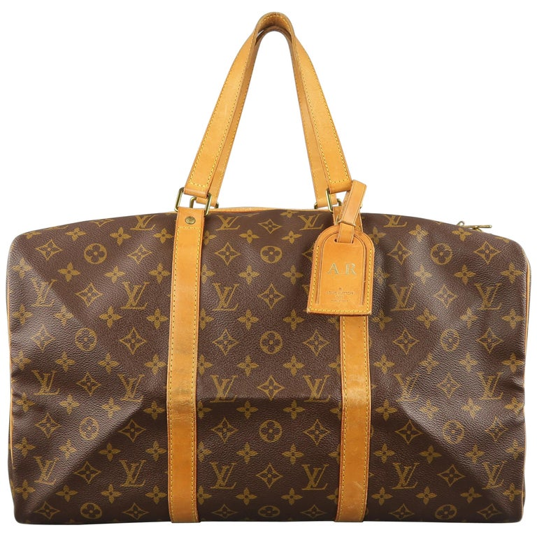 LOUIS VUITTON Brown Monogram Canvas SAC SOUPLE 45 Travel Bag 1