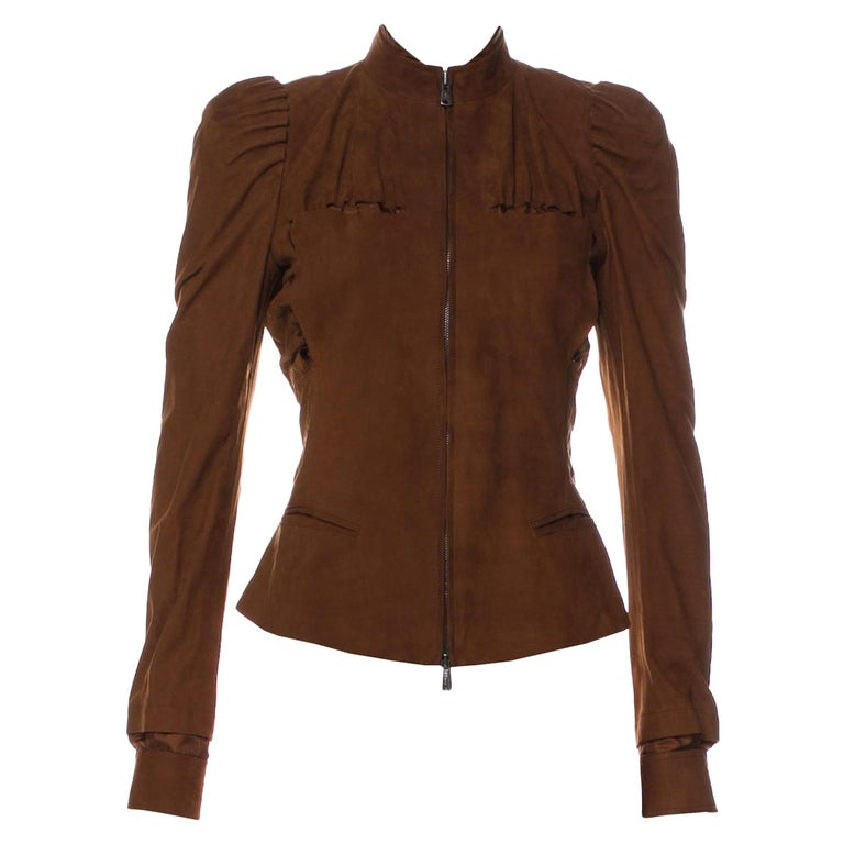 6967070f283 New Tom Ford For Yves Saint Laurent YSL S/S 2003 Suede Jacket Coat ...