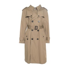 Balenciaga Camel Brown Belted Swing Trench Coat L