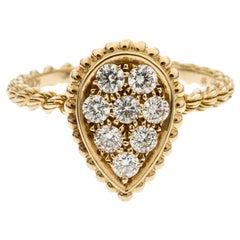 Boucheron Serpent Boheme 18k Yellow Gold And Diamonds S Motif Ring