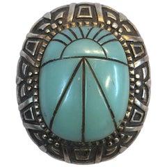 Vintage Signed Hobe Sterling Silver Brooch Pendant