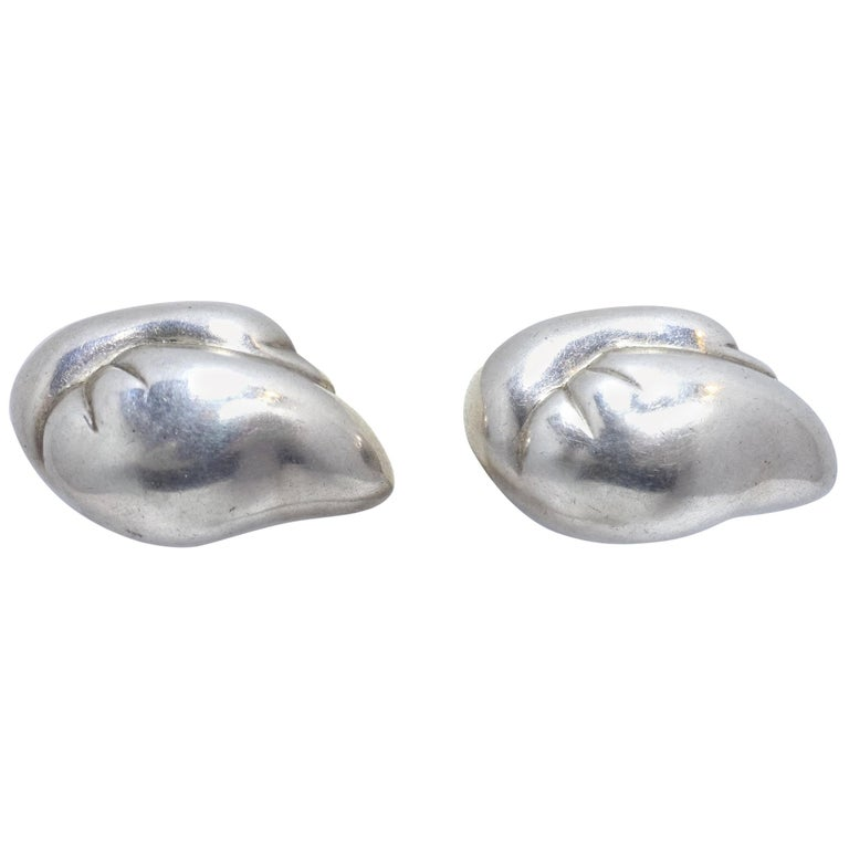 86b8aa3ba634c Vintage Signed Von Musulin Sterling Silver Earrings For Sale at 1stdibs