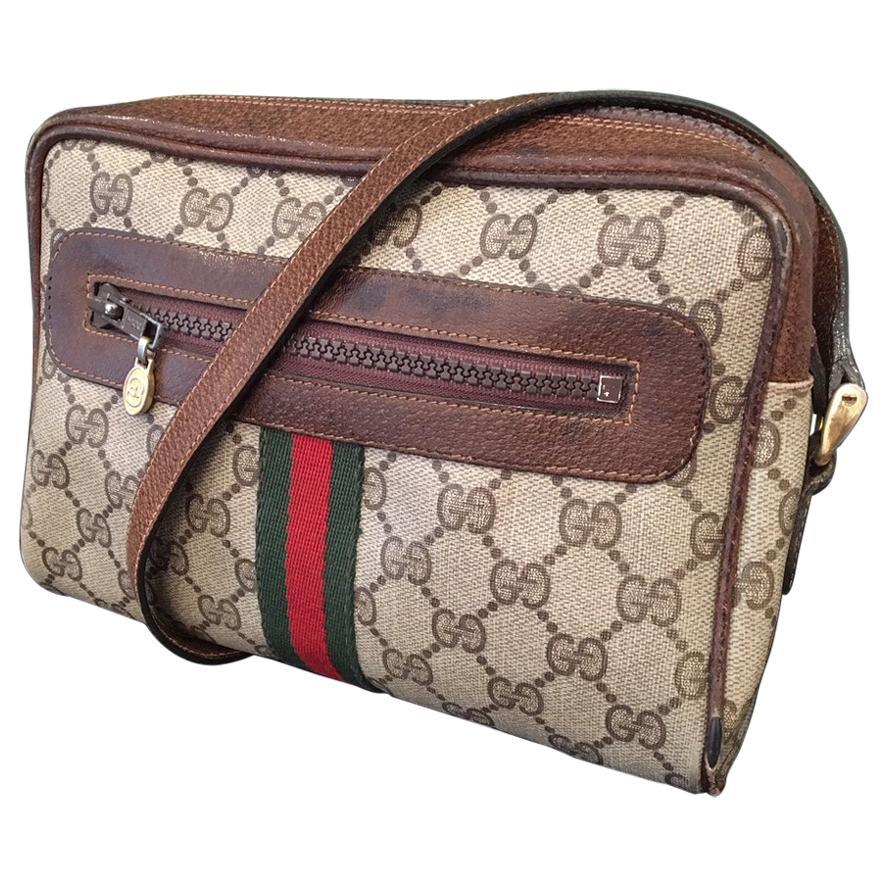 "Vintage 1980s Signature ""GG"" Crossbody Handbag"