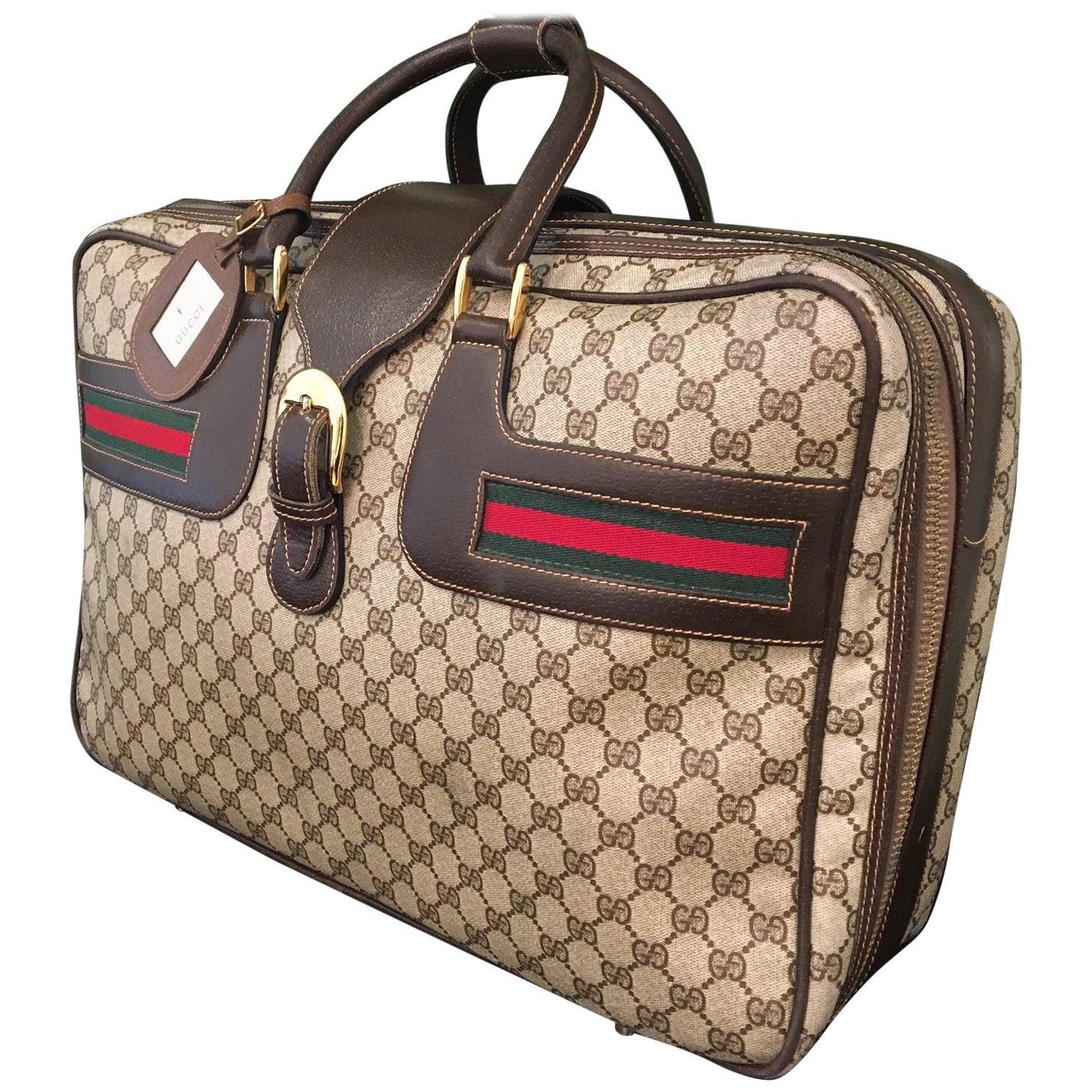 "1980s Gucci Monogram ""GG"" Luggage Bag"