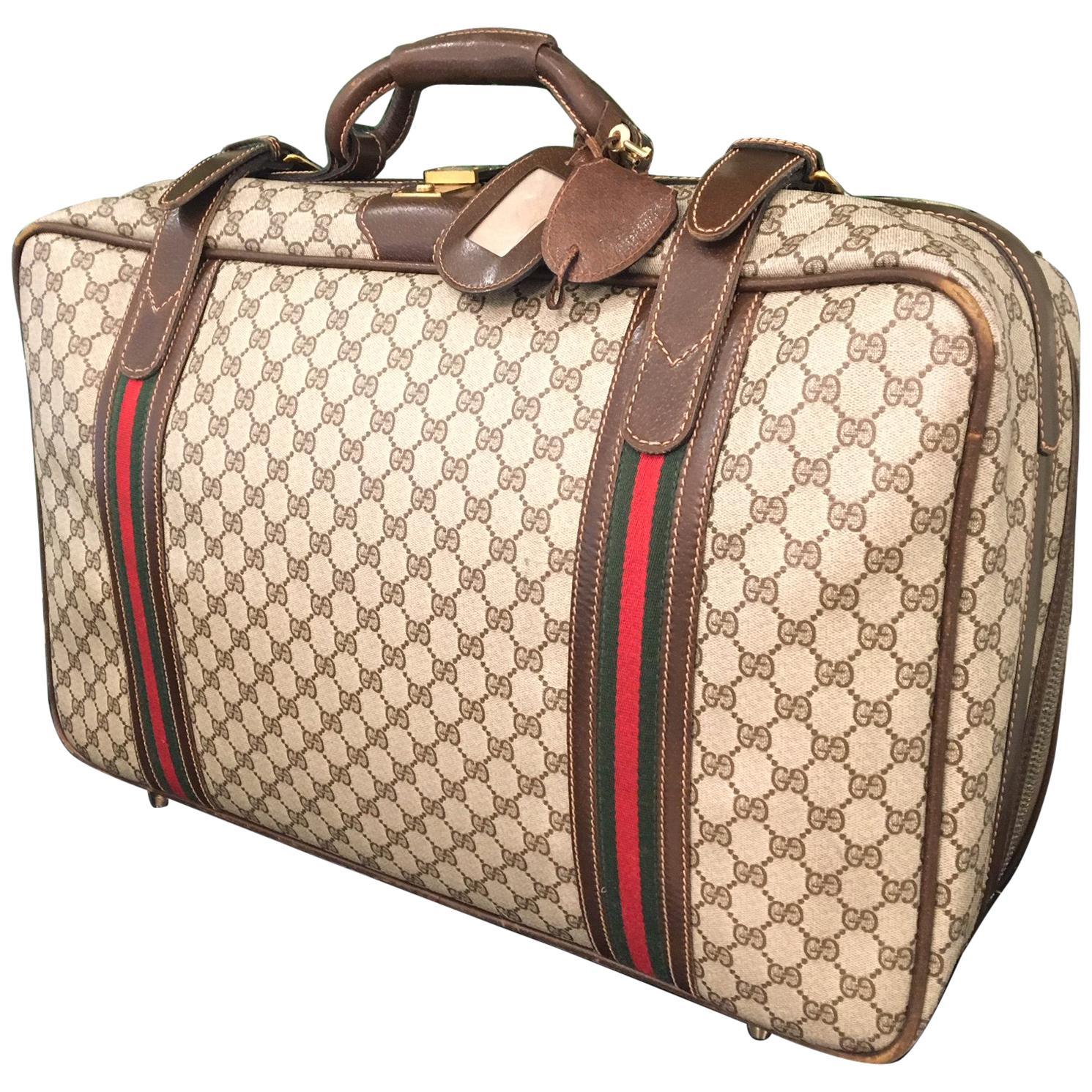 "Vintage Gucci Monogram ""GG"" Luggage Bag"