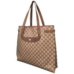 "Large Gucci Classic Monogram ""GG"" Shoulder Tote"