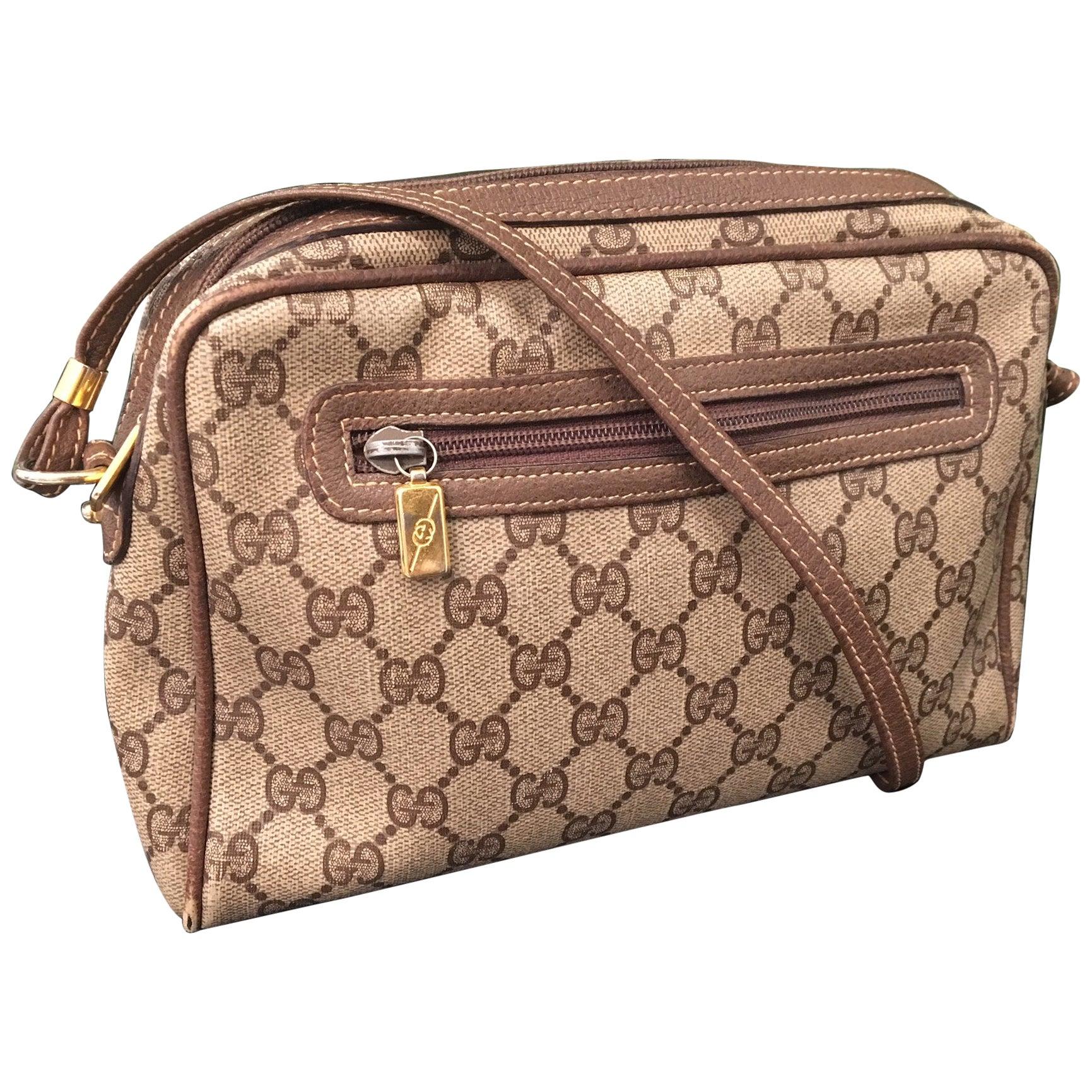 "Vintage Signature ""GG"" Monogram Crossbody Handbag"