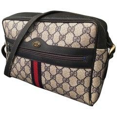 "Vintage 1980s Signature ""GG"" Blue Crossbody Handbag"