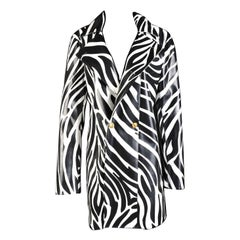 NEW VERSACE VERSUS MEN'S WATERPROOF ZEBRA PRINT COAT for MEN