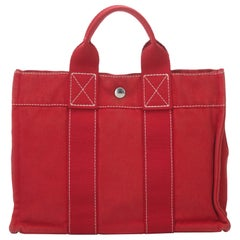 Hermes Red Fourre Tout PM