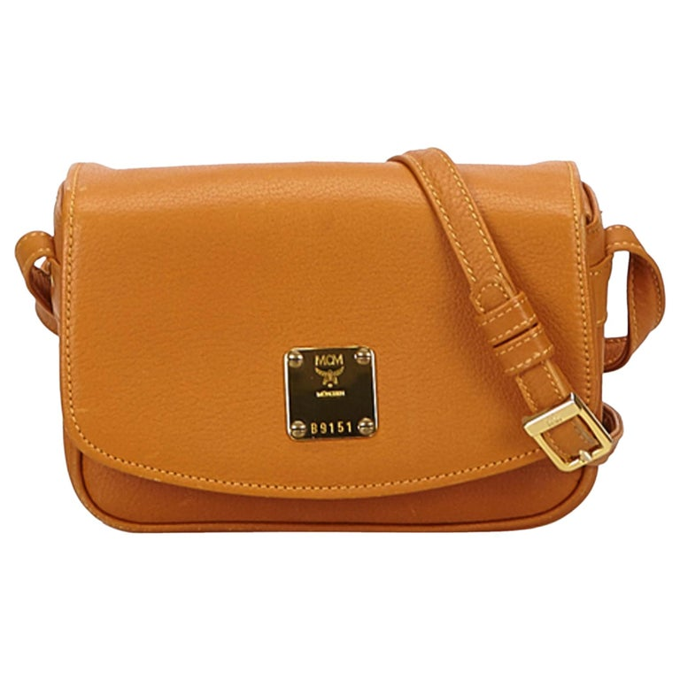 654f71eeb MCM Brown Leather Crossbody Bag at 1stdibs