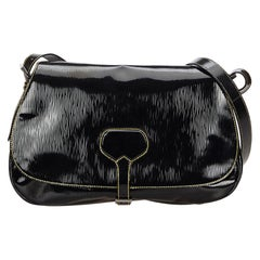 Prada Black Patent Leather Shoulder Bag