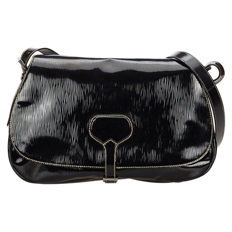 5542799cb35b Prada Black Patent Leather Shoulder Bag at 1stdibs