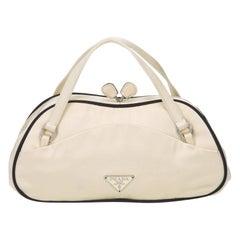 Prada White Satin Handbag