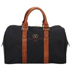 Valentino Blue Nylon Boston Bag