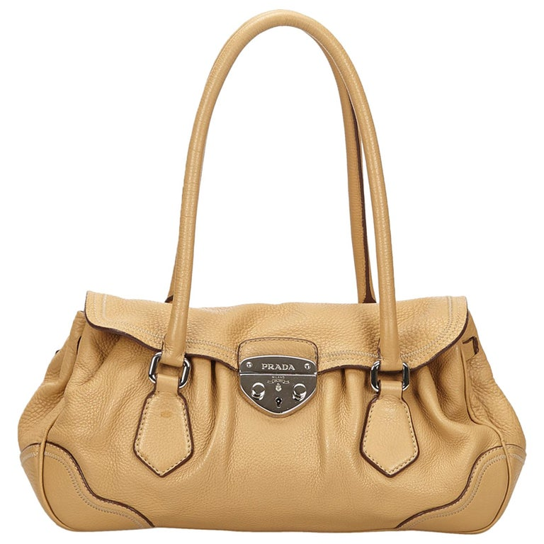54bdf6eb53c6 Prada Brown Leather Shoulder Bag For Sale at 1stdibs
