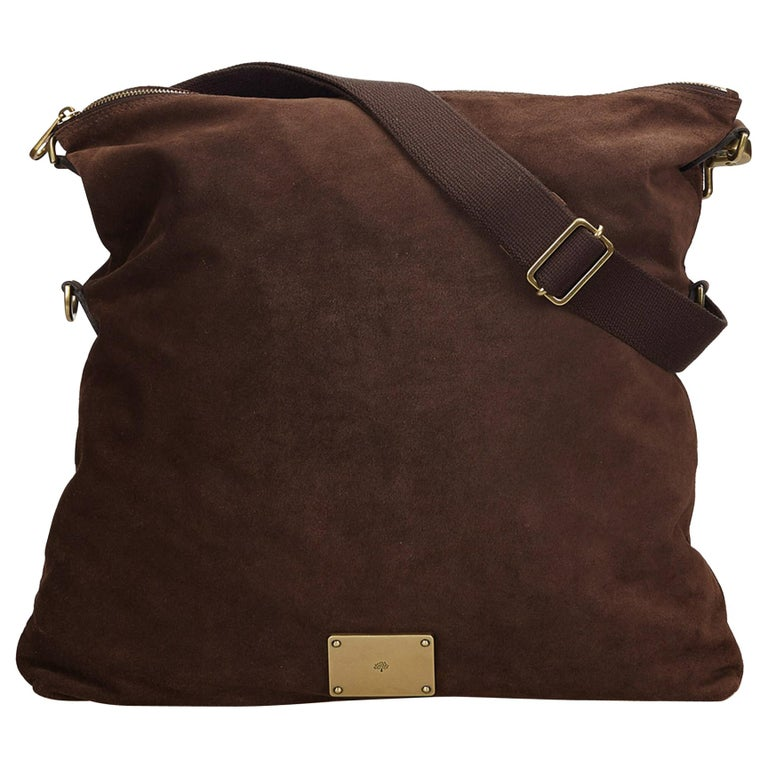 a7f36644a27a Mulberry Brown Folded Suede Crossbody Bag at 1stdibs