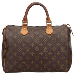 Louis Vuitton Brown Monogram Speedy 30