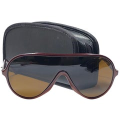 New Ray Ban Wings Brown Frame Brown Amber Lenses B&L USA 80's Sunglasses