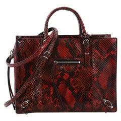 Balenciaga Papier A6 Zip Around Classic Studs Handbag Python Mini