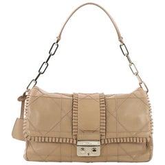 Christian Dior New Lock Ruffle Flap Bag Cannage Quilt Lambskin