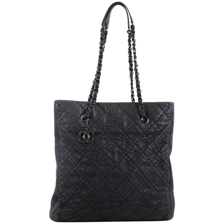 4c412a3be10d Chanel CC Charm Tote Quilted Iridescent Calfskin Tall at 1stdibs