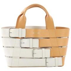Balenciaga Navy Belt Bag Leather and Canvas Small