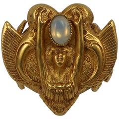 Askew London Signed Winged Goddess Statement Ring