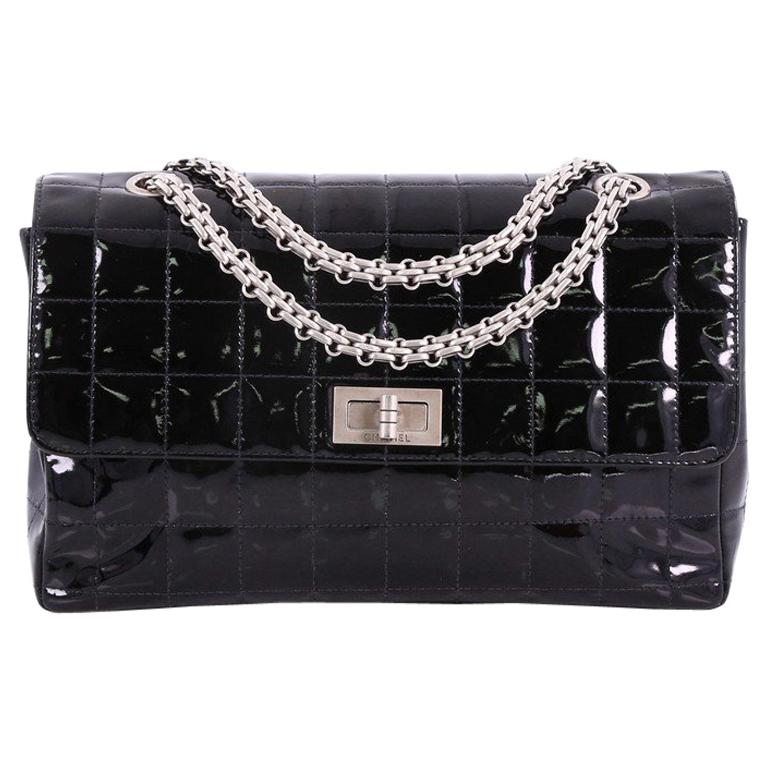d3fca06702fb Chanel Vintage Chocolate Bar Reissue Flap Bag Quilted Patent at 1stdibs