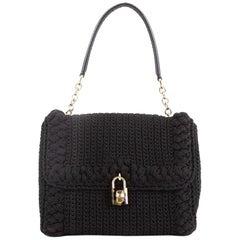 Dolce & Gabbana Miss Bonita Satchel Knit Wool Medium