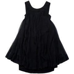 CHANEL Sleeveless Cocktail Dress in Black Chiffon with a Gauzy Effect Size 40FR