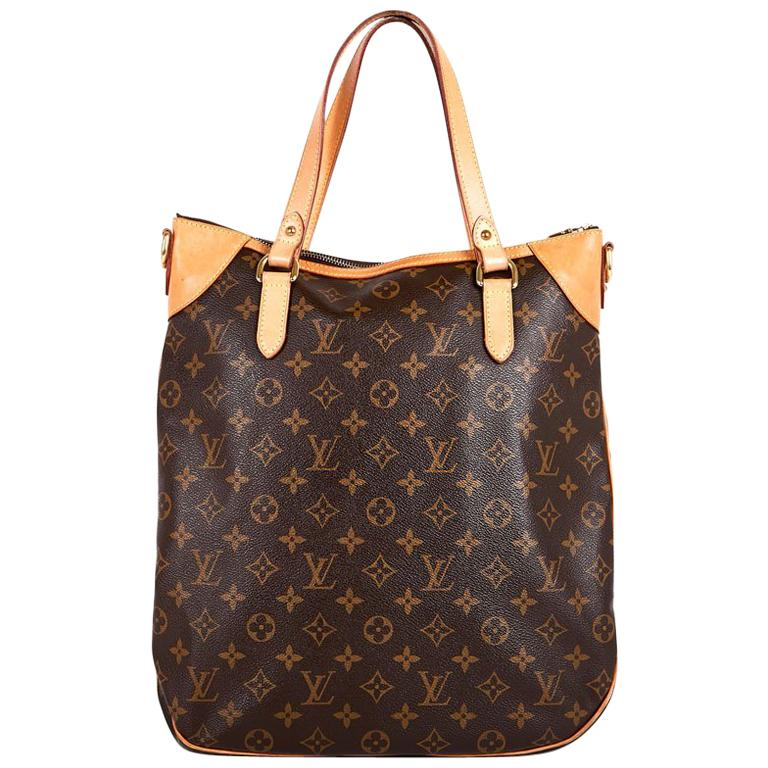3514c4ad3f65 LOUIS VUITTON Odeon Bag in Brown Monogram Canvas and Leather For Sale