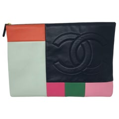 Chanel Color Block Clutch