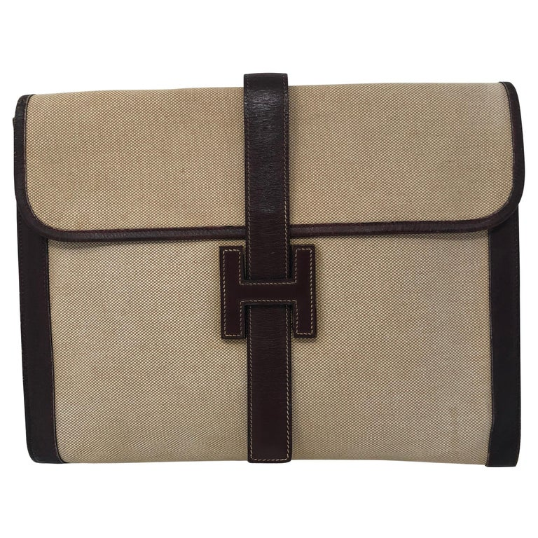 discount for sale special price for unique design Hermes Jige Clutch at 1stdibs