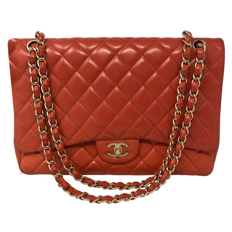 609523b8be4c Chanel Coral Maxi Bag For Sale at 1stdibs