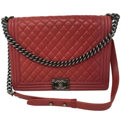 Chanel Red Boy Bag
