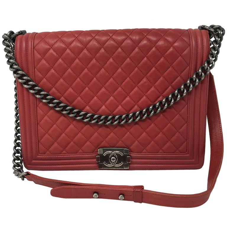1a1079e0cdc8f5 Chanel Red Boy Bag at 1stdibs