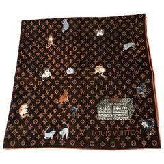 Louis Vuitton Cat Silk Scarf Grace Coddington