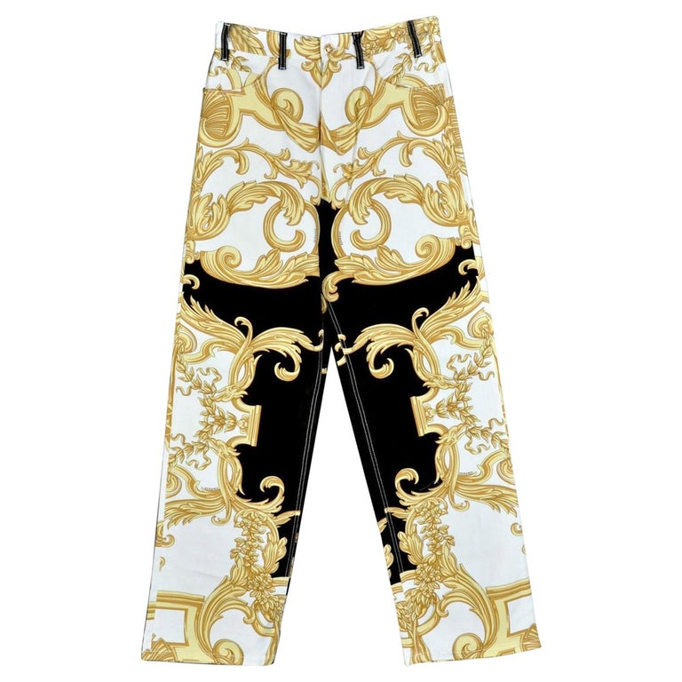 3197a39a77 NEW VERSACE BAROCCO PRINTED JEANS for MEN size 32