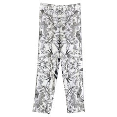NEW VERSACE PRINTED 100% SILK LOUNGE PAJAMA PANTS for MEN